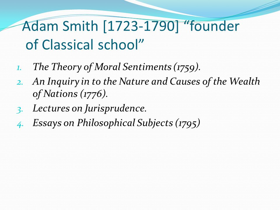 classical school of economics ppt 21 adam
